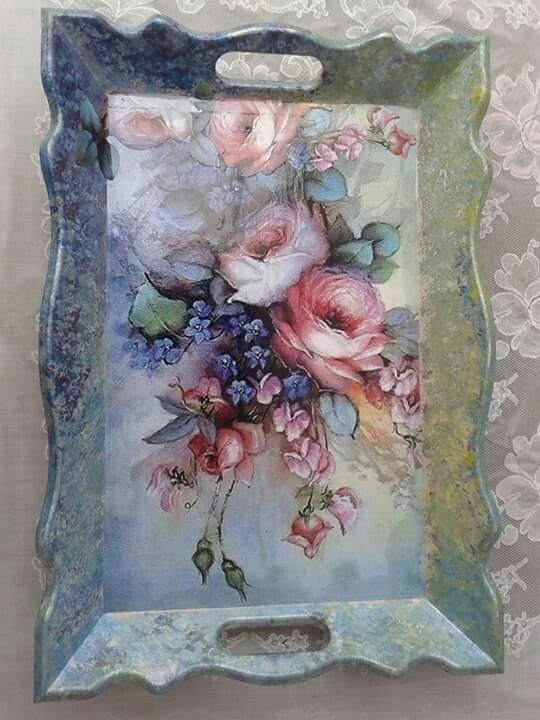 Really beautiful decoupage...