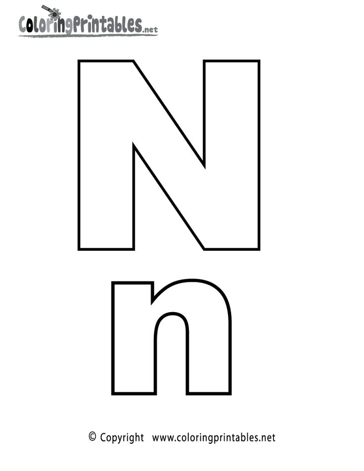 alphabet letter n coloring page  a free english coloring