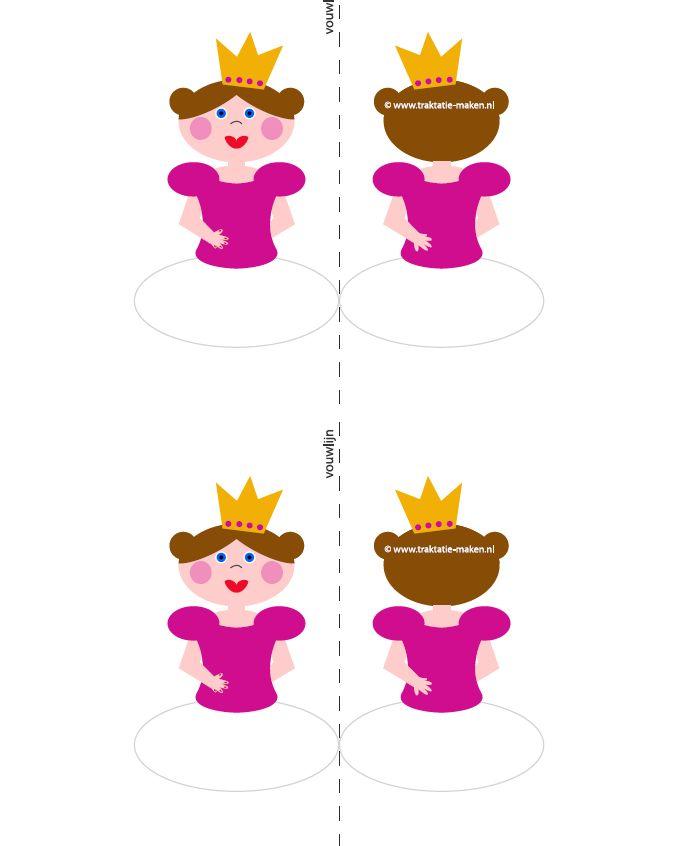 cupcake topper-- http://www.traktatie-maken.nl/traktatie/Prinses-van-eierkoek