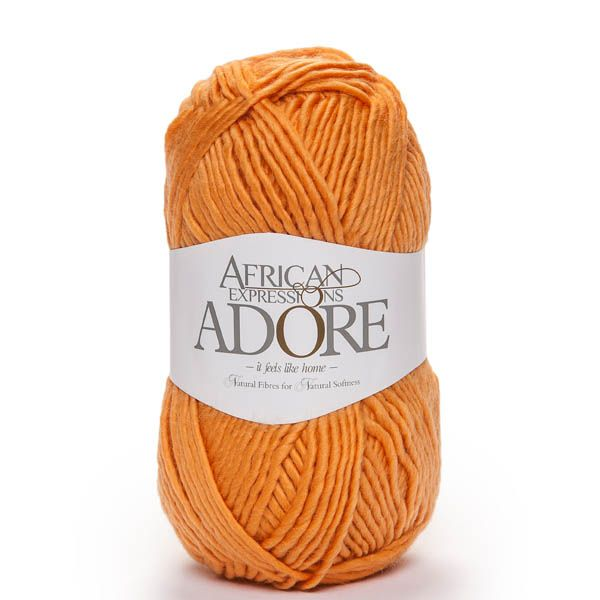 Colour Adore orange, Chunky weight,  African expressions 8020, knitting yarn, knitting wool, crochet yarn, kid mohair yarn, merino wool, natural fibres yarn.