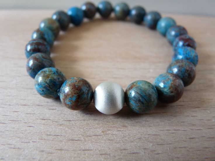 African Turquoise bracelet 8mm beads, gemstone bracelet jewelry, stretch beaded bracelets mala energy reiki chakra healing jewelry by nkcraftstudio on Etsy