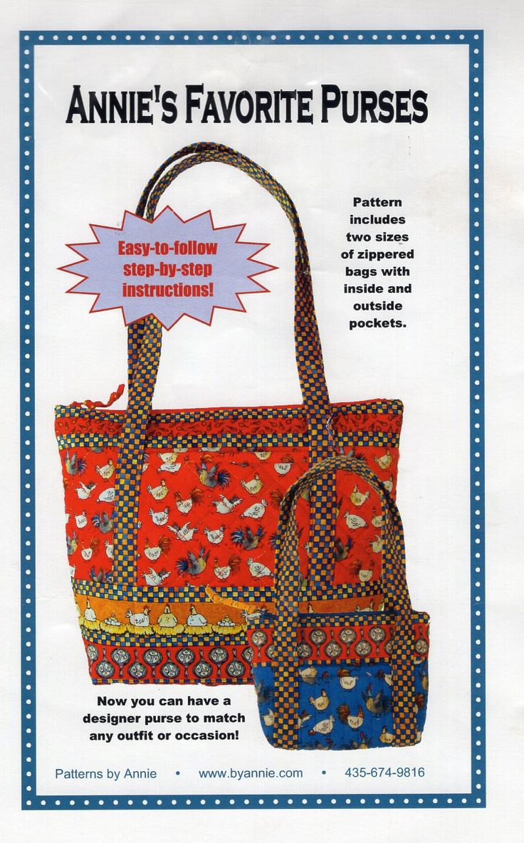 149 best handbag purse tote sewing pattern images on pinterest free us ship craft sewing pattern annie unrein favorite tote purse handbag bag shopping beach designer jeuxipadfo Image collections