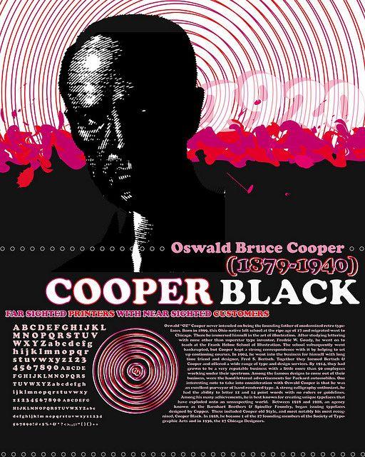cooper black font history poster by plastique pop, via Flickr