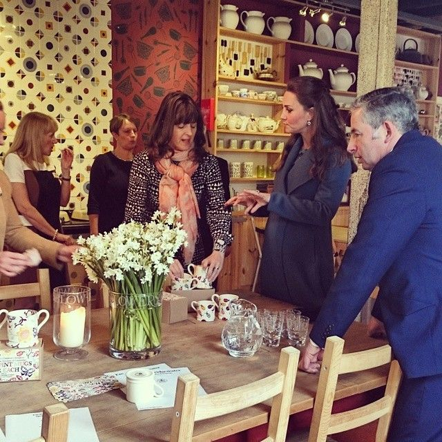 The Duchess of Cambridge & Matthew & Emma Bridgewater at the Emma Bridgewater Factory in Stoke-on-Trent * February 18 2015