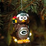 Green Bay Packers Owl Ornament at the Packers Pro Shop