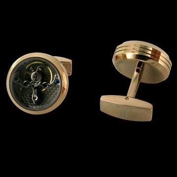 TF EST. 1968 - Boutons de manchettes Tourbillon, cresus accessoires de luxe d'occasion, http://www.cresus.fr/accessoires/accessoire-occasion-tf_est_1968-boutons_de_manchettes_tourbillon,r46,ta5,p823.html