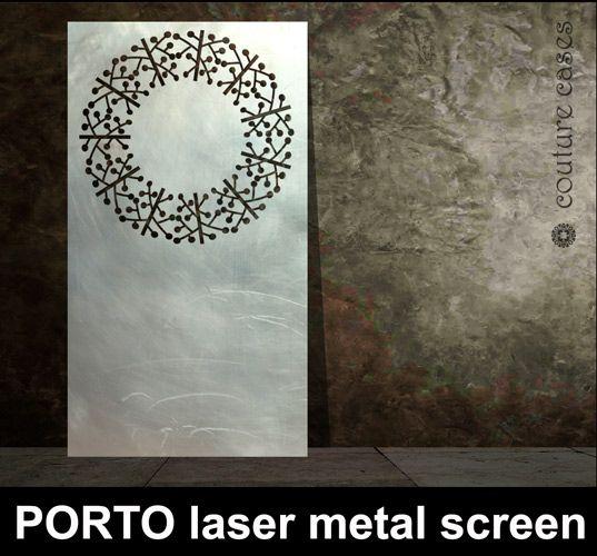 Bespoke PORTO Laser Cut Metal Screens Custom Made In The UK.