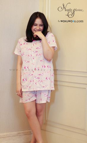 Fashion Flamingo Sleep Wear by Nagita Slavina, available now on www.wokuwoku.com
