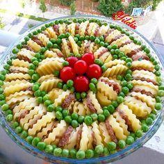 Hayırlı akşamlar hayırlı iftarlar canlarım...Bugün iftara misafirlerim var...Biz fırına gidiyoruz şimdi...tarif gelicek... FIRINDA PATATES  KÖFTE  BEZELYE  6 Boy büyük patates Karabiber pul biber 2 yemek kaşığı salça 1 tatlı kaşığı biber salçası 1 çorba kaşığı  tereyağ 1 çay bardağı sıvı yağ 1 su bardağı  bezelye 5 tane küçük domates köftesİ için mazemeler  Yarım kg kıyma 3 dilim ayarı bayat ekmek(fazla koynayın tadını alamassınız köftenin 1 yumurta 1 er çay kaşığı kara ve pul biber..bide…