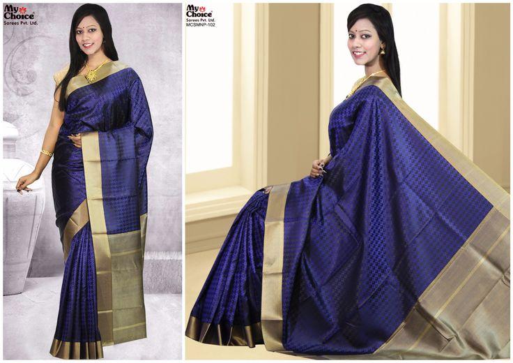 Beautiful Blue Manipuri Saree