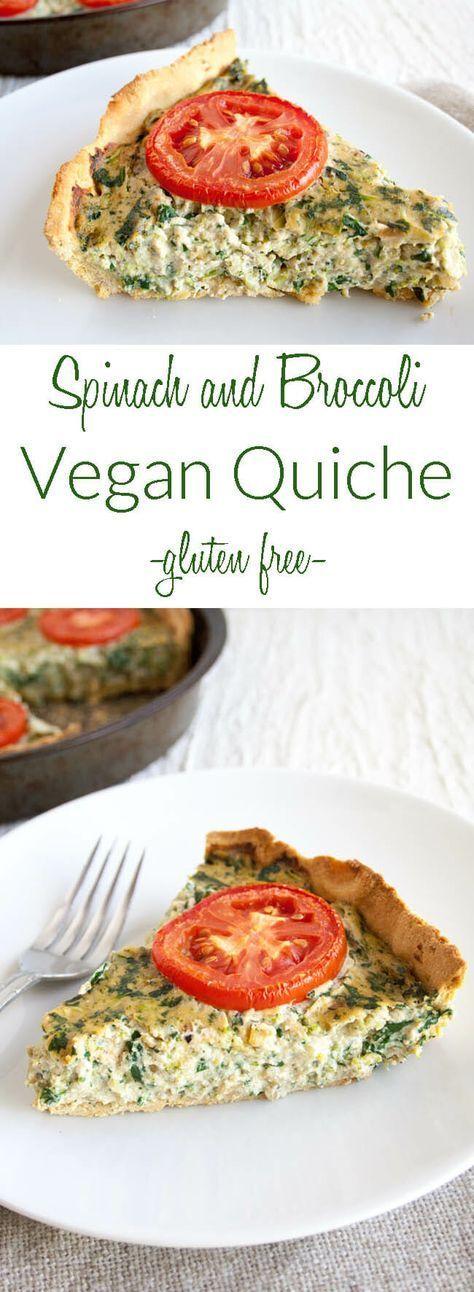 Spinach and Broccoli Vegan Quiche (gluten free) – …