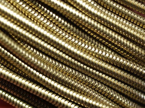 Lant din alama - 1 metru - 1 mt 2,4 mm Raw Brass Snake Chain de Dunare Breslo