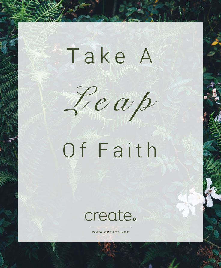 Take a leap of faith this #LeapYear and build your new website with Create. Sign up for a free trail here! #MotivationalMonday #MondayMotivation