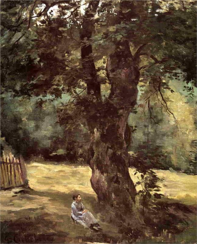 Woman Seated Beneath a Tree, 1874 - Gustave Caillebotte (French, 1848-1894) Impressionism