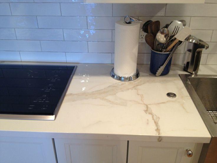 Slim Slab Kitchen Counter Project | Architectural Ceramics   Polished  Porcelain Slab