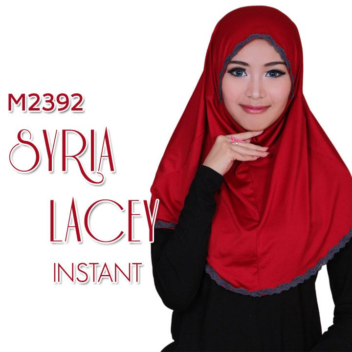 JILBAB SYRIA LACEY INSTANT 5 WARNA | Warung Muslimah http://warungmuslimah.com/busana-muslim-wanita/jilbab/jilbab-syria-lacey-instant-5-warna