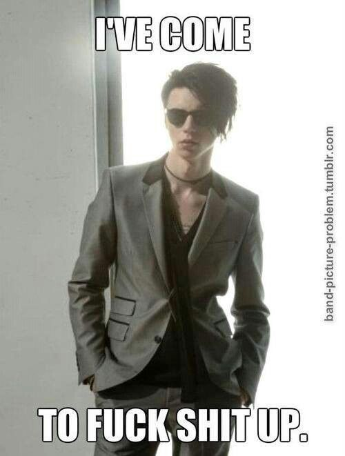 Andy Biersack From BLACK VEIL BRIDES I wish my name was sht then