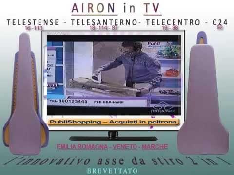 http://www.angyshop.com Airon asse da stiro 2 in 1, 2 piani di lavoro per ottimizzare e velocizzare la stiratura di qualsiasi capo d'abbigliamento, in particolare di pantaloni, camicie, gonne, abiti,indumenti di piccola taglia e con modellistica particolare. 10 video tutorials per te su www.angyshop.com . presentazione in TV su TELESANTERNO-TELESTENSE-TELECENTRO ODEON-CANALE 24.