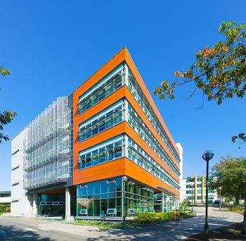 North America's greenest building -- University of British Columbia, Vancouver, BC, Canada. Credit: Don Erhardt)
