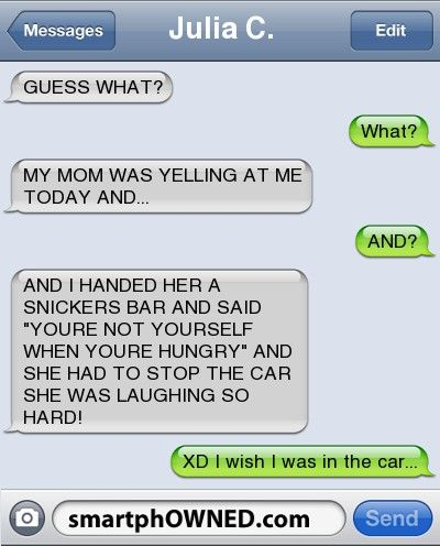 My mom wouldn't understand this, but if someone's does, this is the best way to get out of trouble... lol