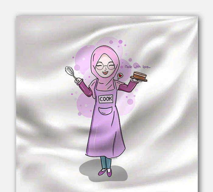 30 Gambar Kartun Chef Berhijab Tokome Id Pasar Merchandise Komik Cutie Hijab Girl Scarf Download Sketsa Kartun Muslimah Down Kartun Gambar Gambar Kartun