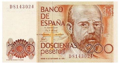 "Leopoldo Alas ""Clarín"". 200 pesetas"