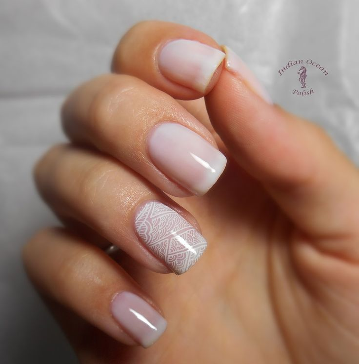nude nails with white french tips - Google Search
