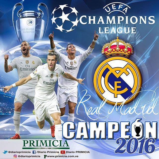 El Real Madrid logró este este sábado el undécimo campeonato de la #ChampionsLeague tras vencer en la ronda de penales al Atlético de Madrid. Arte: @ricardorondon25#Deportes #PRIMICIA #PrimeroYMejor #Madrid #RealMadrid #HalaMadrid #AtléticoDeMadrid