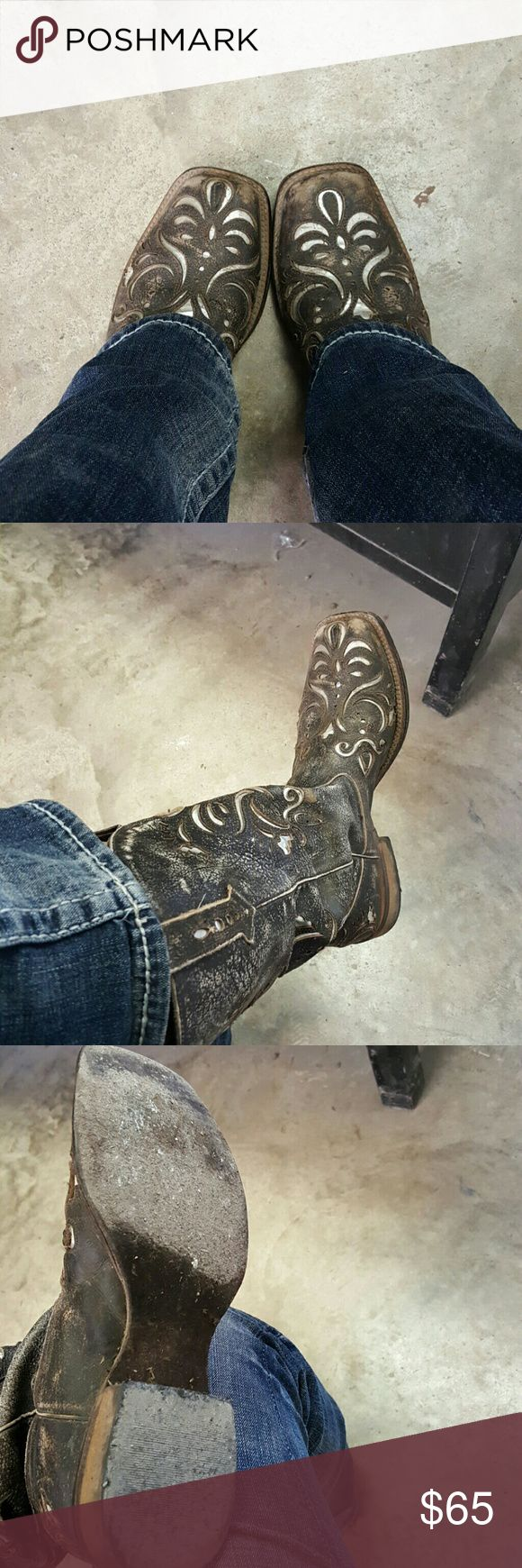 Super cute custom roper boots Good condition loved but needs a new home Shoes Heeled Boots