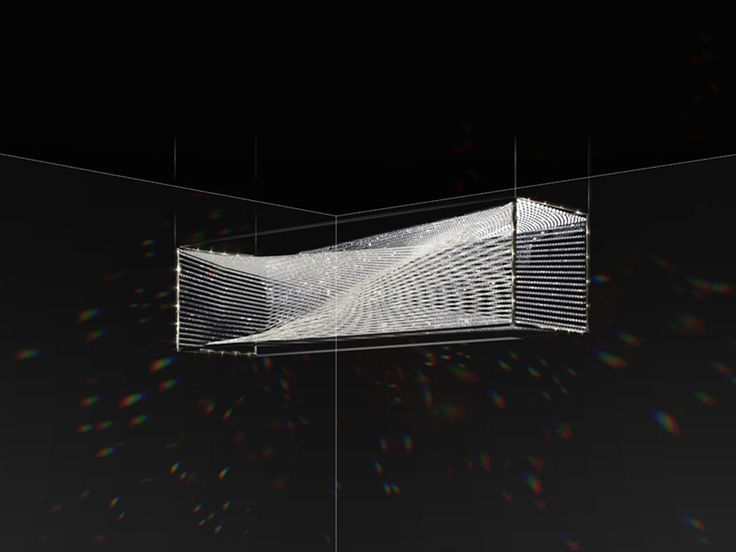 eva menz design chandelier vortex crystal tension wire rectangular