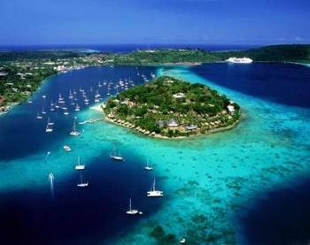 Iririki Island Resort - Aerial View