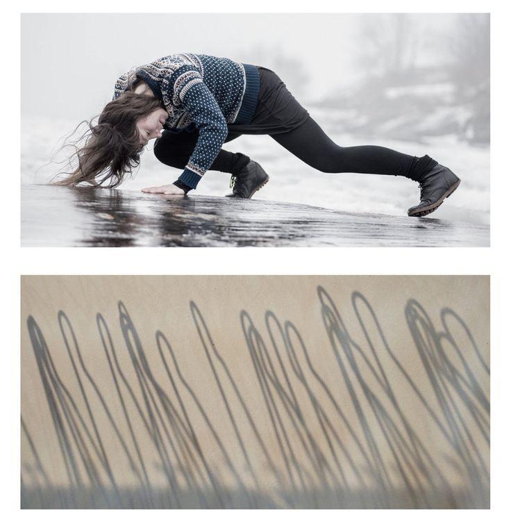 Photo 🅰: SEA CHANGE SERIES | Uunisaari, Helsinki, Finland 2016 - dancer: Kristiina Turtiainen Photo 🅱:HANGERS |The Place, London, UK - October 2016