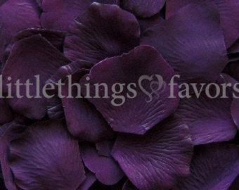 Purple Rose Petals in 13 Shades Purple Silk by LittleThingsFavors