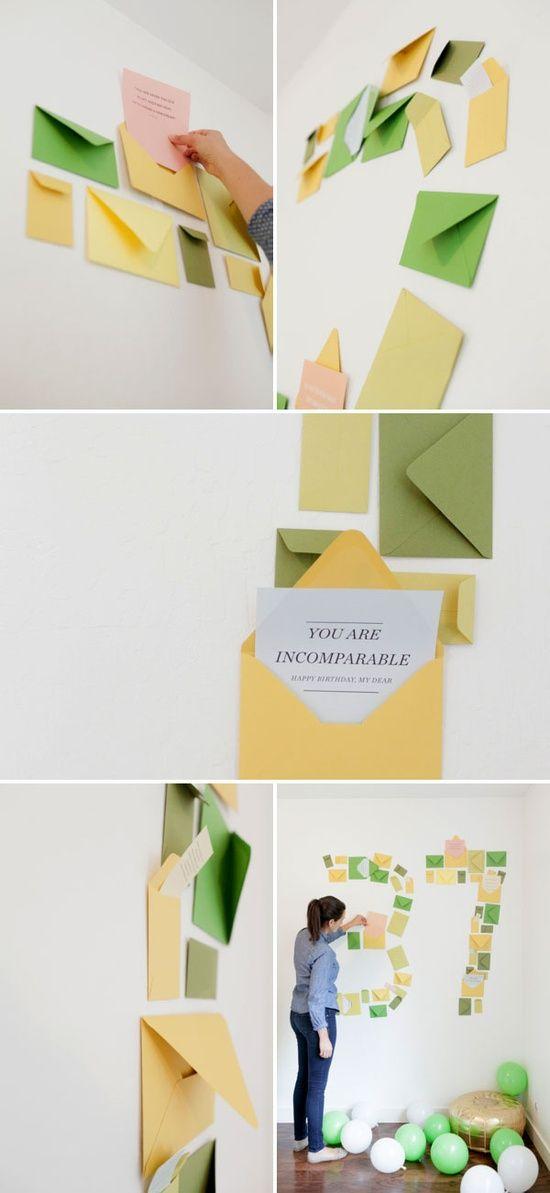 Numéro de cumpleaños, sobres, tarjetas, sorpresas!