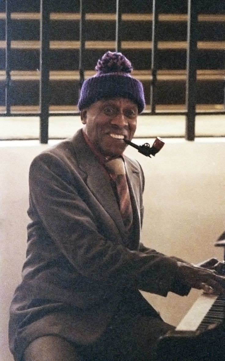 Actor Scatman Crothers on the Colorado Lounge set of The Shining. Photo courtesy Kathleen Dolan, who was actor Jack Nicholson's assistant.