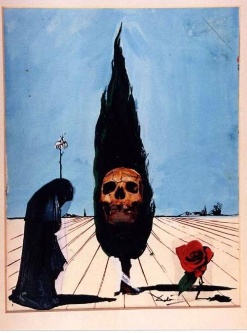 The Death card from Salvador Dali's Universal Dali Tarot deck.