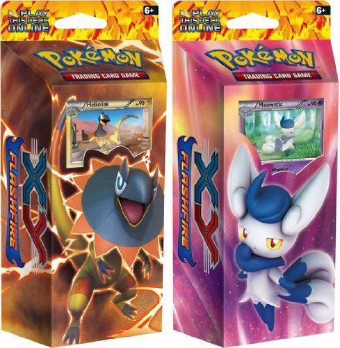Pok mon Sealed Decks and Kits 183467: Pokémon Tcg Pokemon Xy2: Flashfire Theme Decks - Meowstic And Heliolisk Card Game -> BUY IT NOW ONLY: $37.98 on eBay!