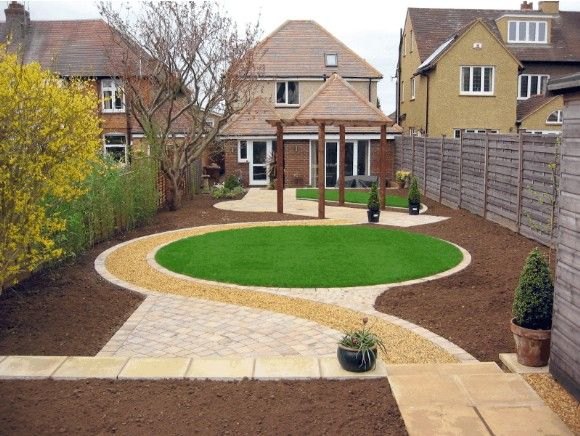 Garden landscape - love the circle of grass
