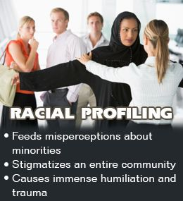 racial profiling is morally wrong. why should people be judge on the color of there skin and how they are dressed. Everyone has the right to show who they are and not be criticized and humiliated by it.