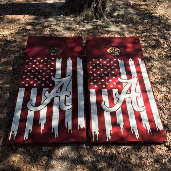 Alabama Cornhole Set With Bean Bags – Cornhole By Blake