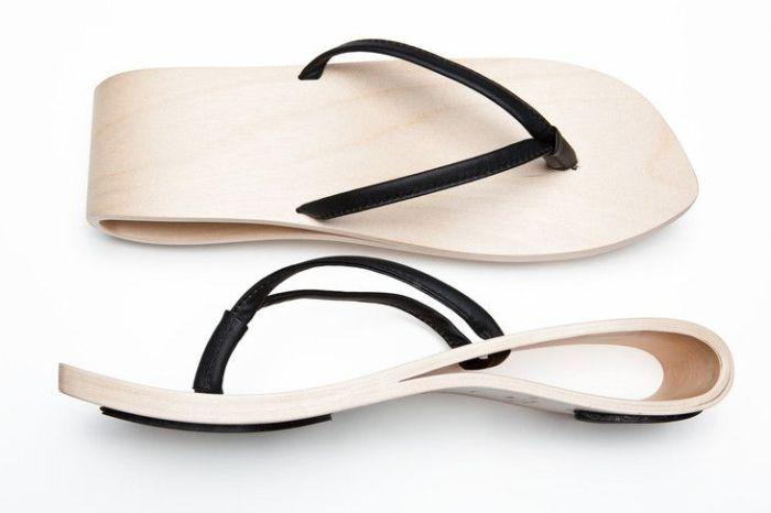Деревянная обувь из коллекции Wave