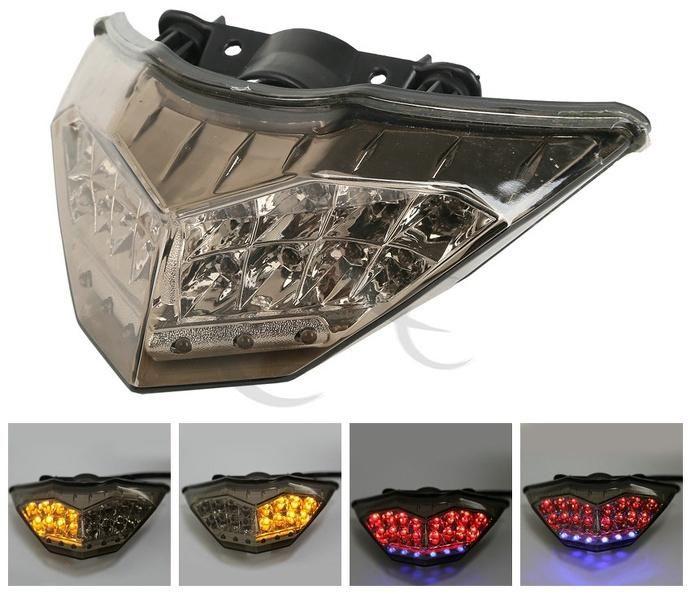 [Visit to Buy] Motorcycle ABS Smoke Rear LED Taillight Turn Signals for KAWASAKI NINJA 300 250R 2013-2014 #Advertisement