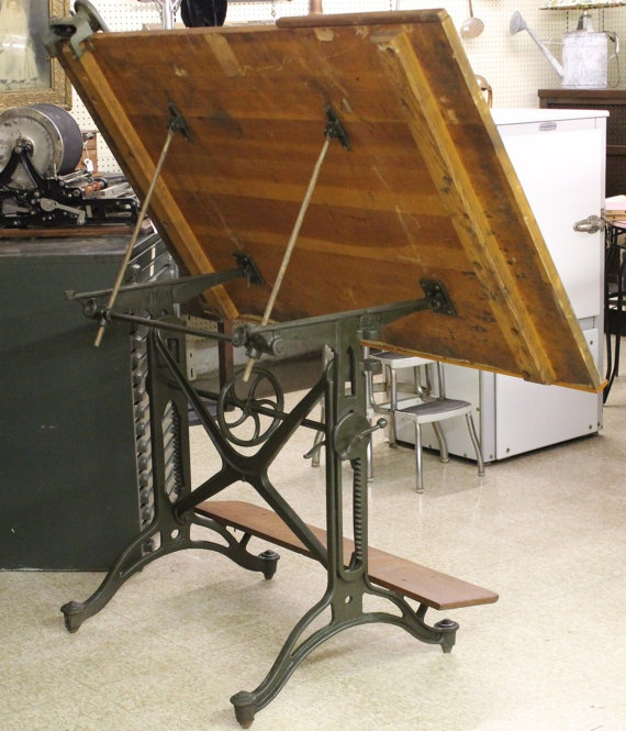 Vintage Keuffel Esser Co American Eagle Drafting Table Studio