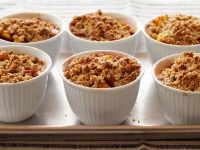 Individual Peach Cobblers #PeachCobbler #Seasonal: Food Network, Individual Peach Cobbler, Peaches Cobbler Recipes, Sweet, Elegant Food And Desserts, Peach Cobbler Recipes, Individual Peaches Cobbler, Yummy, Peach Cobblers
