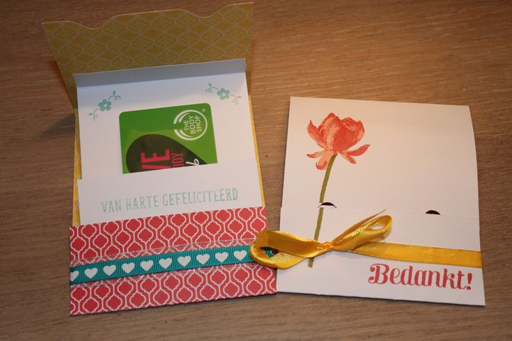 Geschenk  - giftcard -envelop met stampin up KJEG - lotus blossom - big day stamp