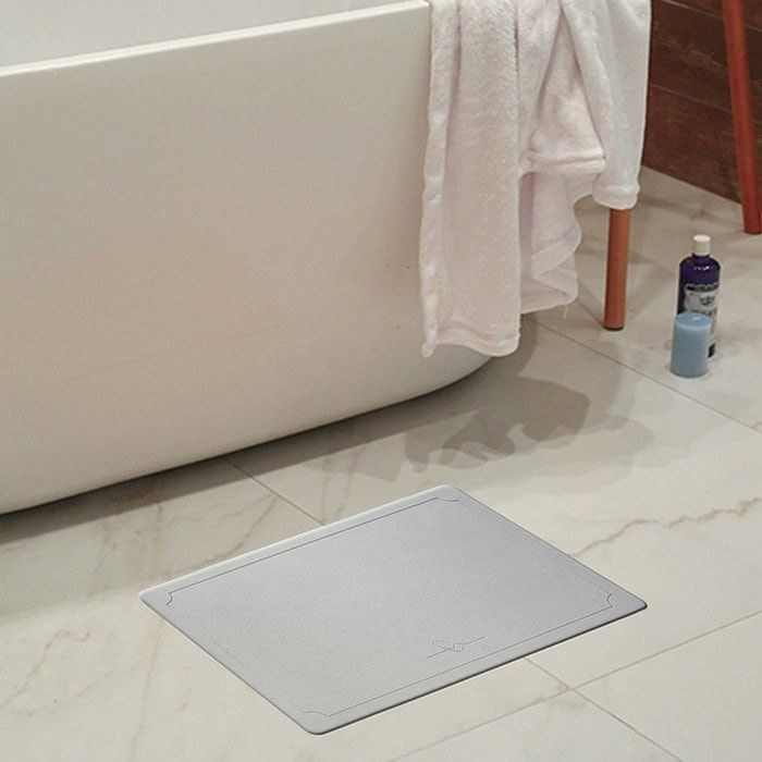 Water Absorption Quick Drying Mats Bathroom Diatom Mud Pad With