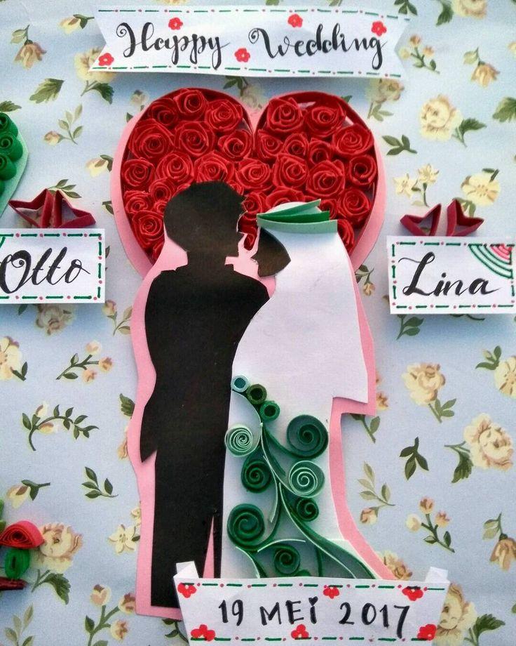 Happy wedding kak.. Semoga langgeng sampai kakek nenek ^^ #quilled #quilling #paper #paperquillingindonesia #paperquilling #quillingart #creative #handmade #weddinggift #kadoultah #kadopernikahan #kadonikah #gift #kadowisuda #kadounik http://gelinshop.com/ipost/1517914091149400640/?code=BUQttLahRpA