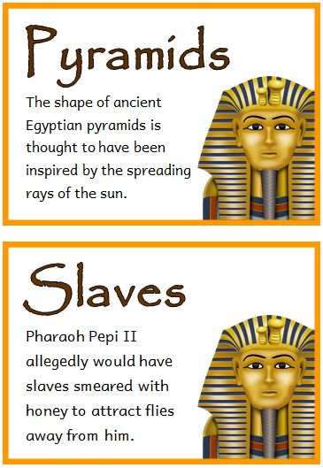 Ancient Egypt Fact Cards - Treetop Displays - Printable ...