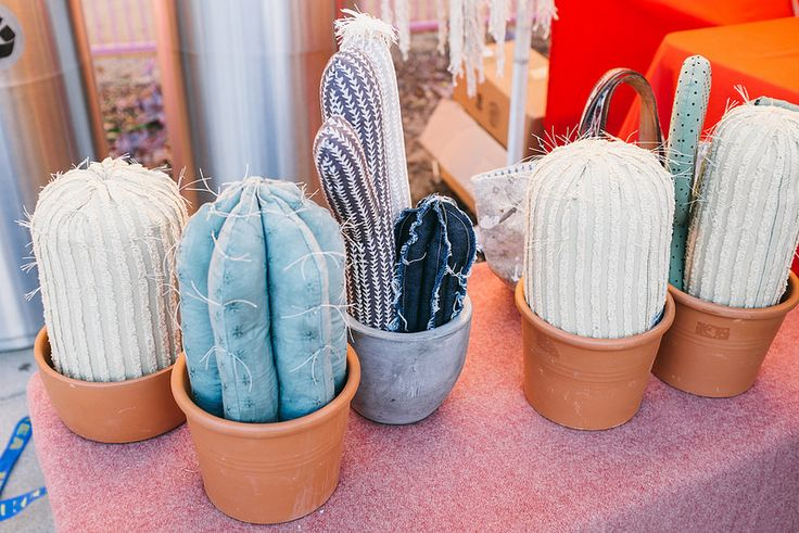 Beautiful stuffed/sewn cacti at the Renegade Los Angeles market. #RenegadeCraftFair #RenegadeLA