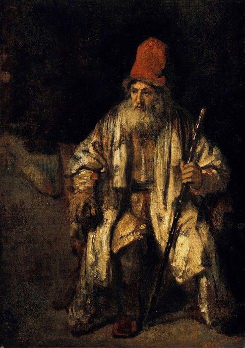 Рембрандт (1606-1669) - Старик в красной шапке. Часть 4